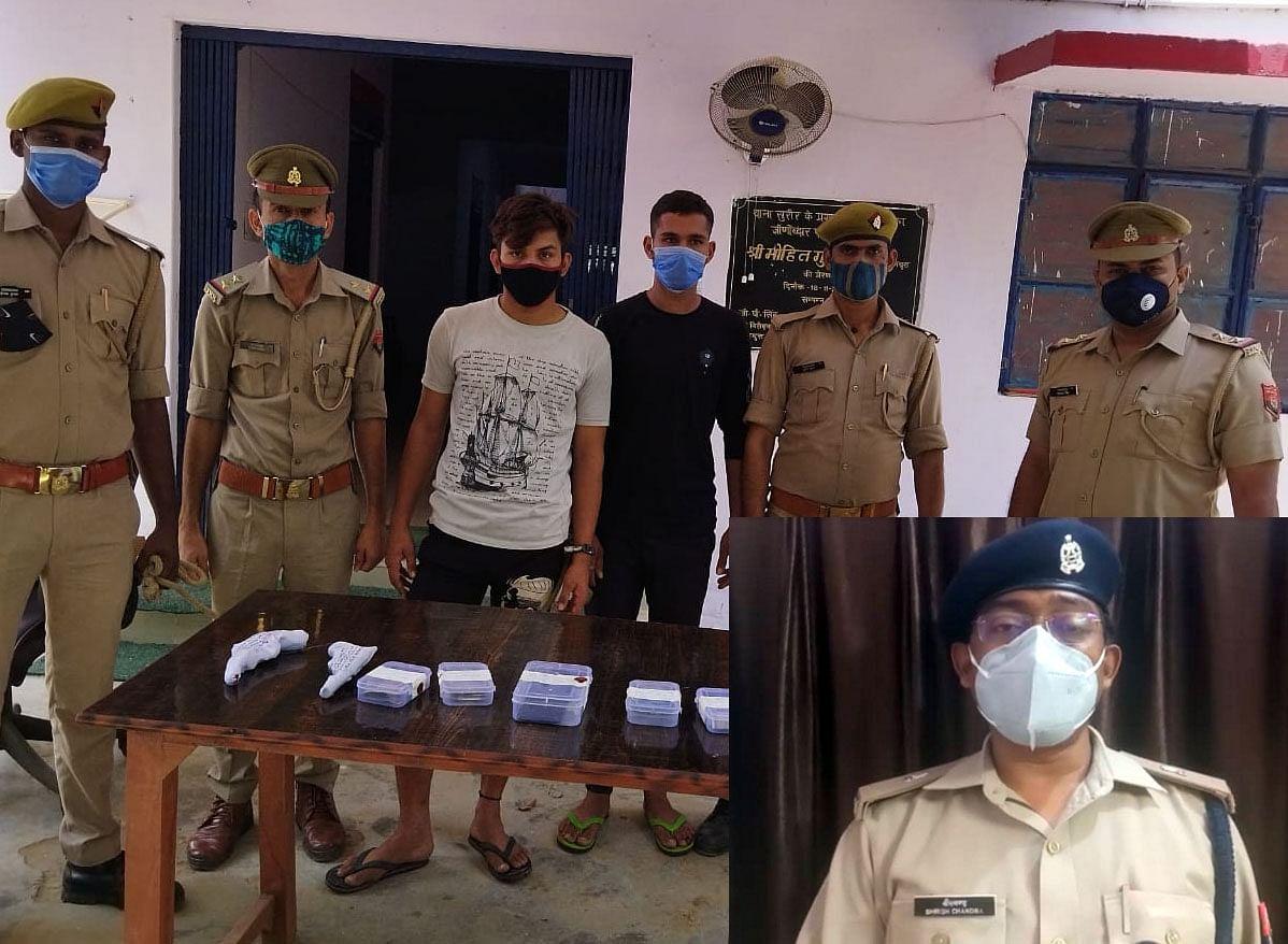 मथुरा एक्सप्रेस-वे पर बस हाईजेक कर लूटपाट करने वाले दो वांछित आरोपित गिरफ्तार