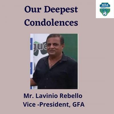 एआईएफएफ के सीनियर अधिकारी रेबेलो का निधन