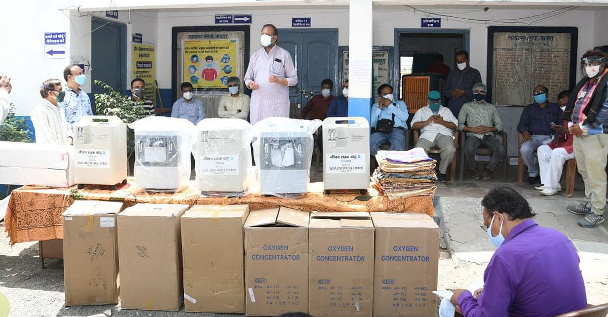 इप्का लेबोरेट्री ने 20 लाख रु के आक्सीजन कंस्ट्रेटर प्रदान किए