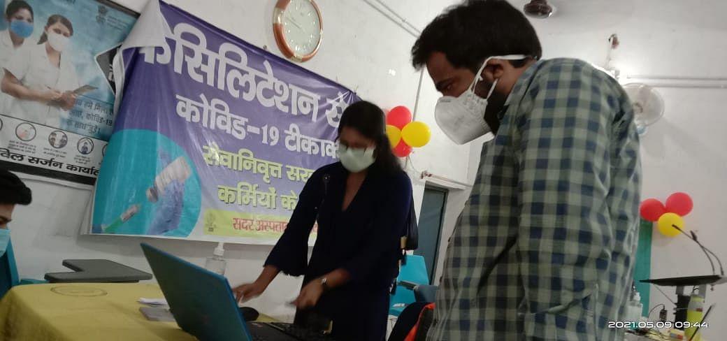 नवादा में 18 से 44 आयुवर्ग के लोगों का कोरोना टीकाकरण शुरू