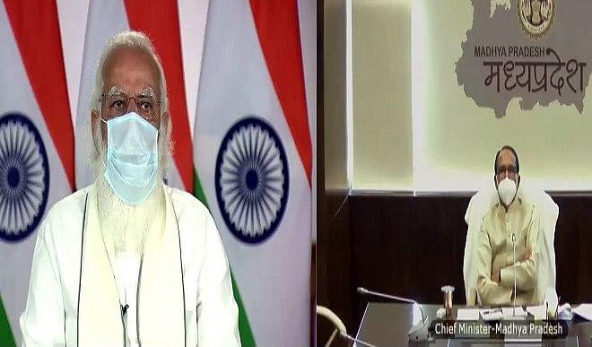 शिवराज ने PM मोदी से की फोन पर चर्चा, प्रदेश में कोरोना की वर्तमान स्थिति से कराया अवगत