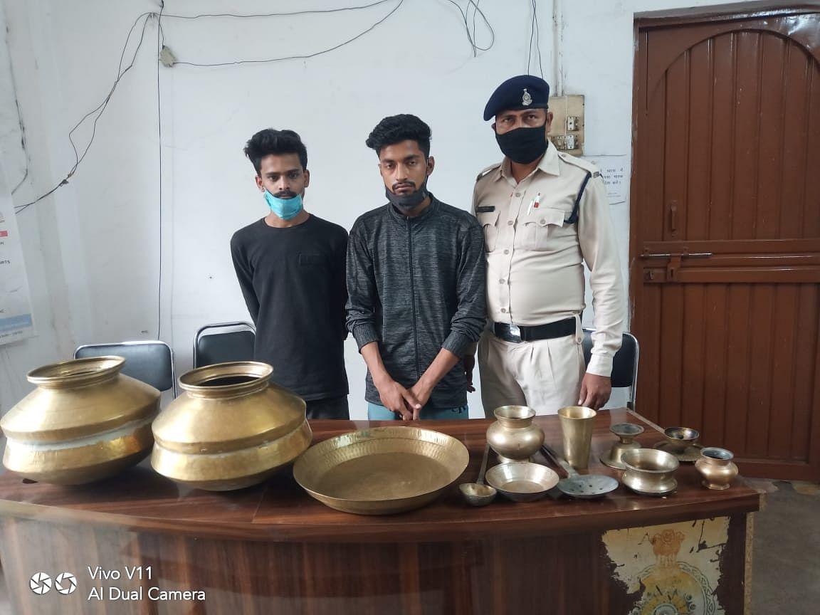भिलाई : भिलाई-3 मे पकडे गये आठ शातिर चोर