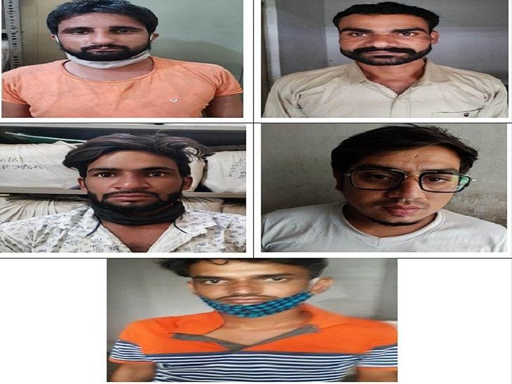 अंतरराज्यीय वाहन चोर गिरोह का खुलासा:गिरोह का सरगना सहित पांच बदमाश गिरफ्तार