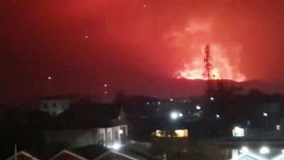डीआर कांगो में लावा प्रवाह रुकने पर निवासी घर लौटे