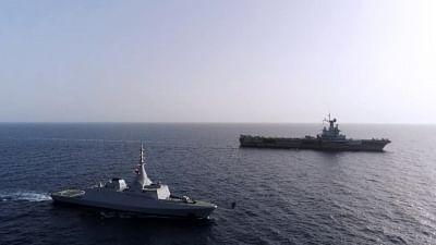 मिस्र, फ्रांस की नौसेना और हवाई सेना ने साथ में युद्ध अभ्यास किया
