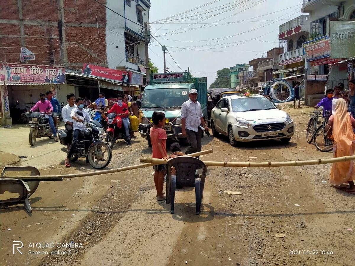पुलिस हिरासत में आरोपी की मौत,सड़क जाम