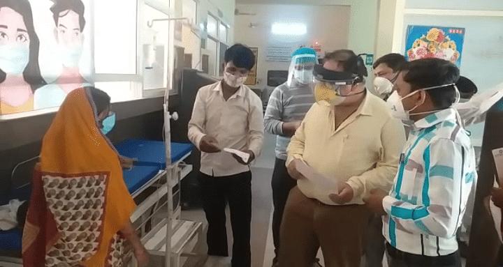 फिरोजाबादः सीएमएस ने किया सरकारी ट्रामा सेंटर का निरीक्षण, मरीजों का जाना हाल