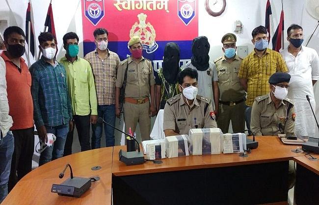 गोरखपुर : एक-एक लाख इनमिया दो शातिर पुलिस के हत्थे चढ़े