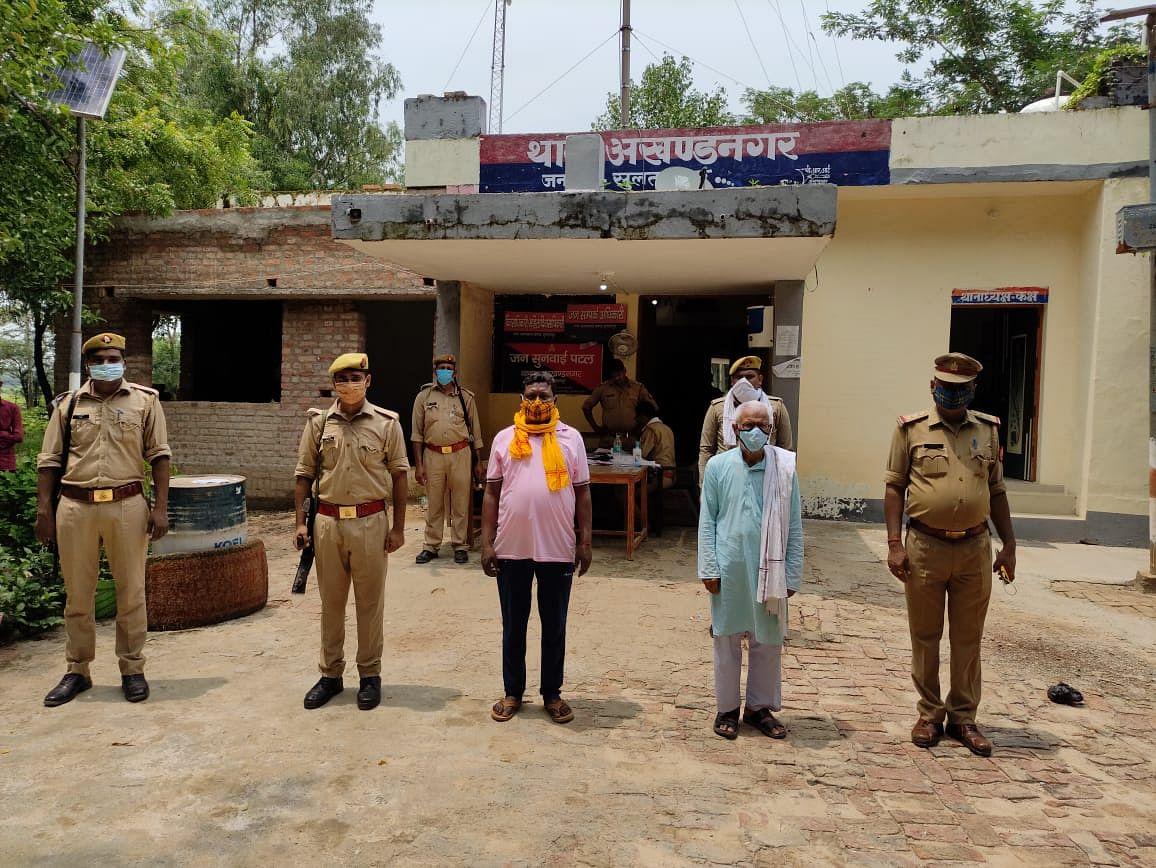 सुलतानपुर : 25-25 हजार के दो आरोपितों को पुलिस ने भेजा जेल