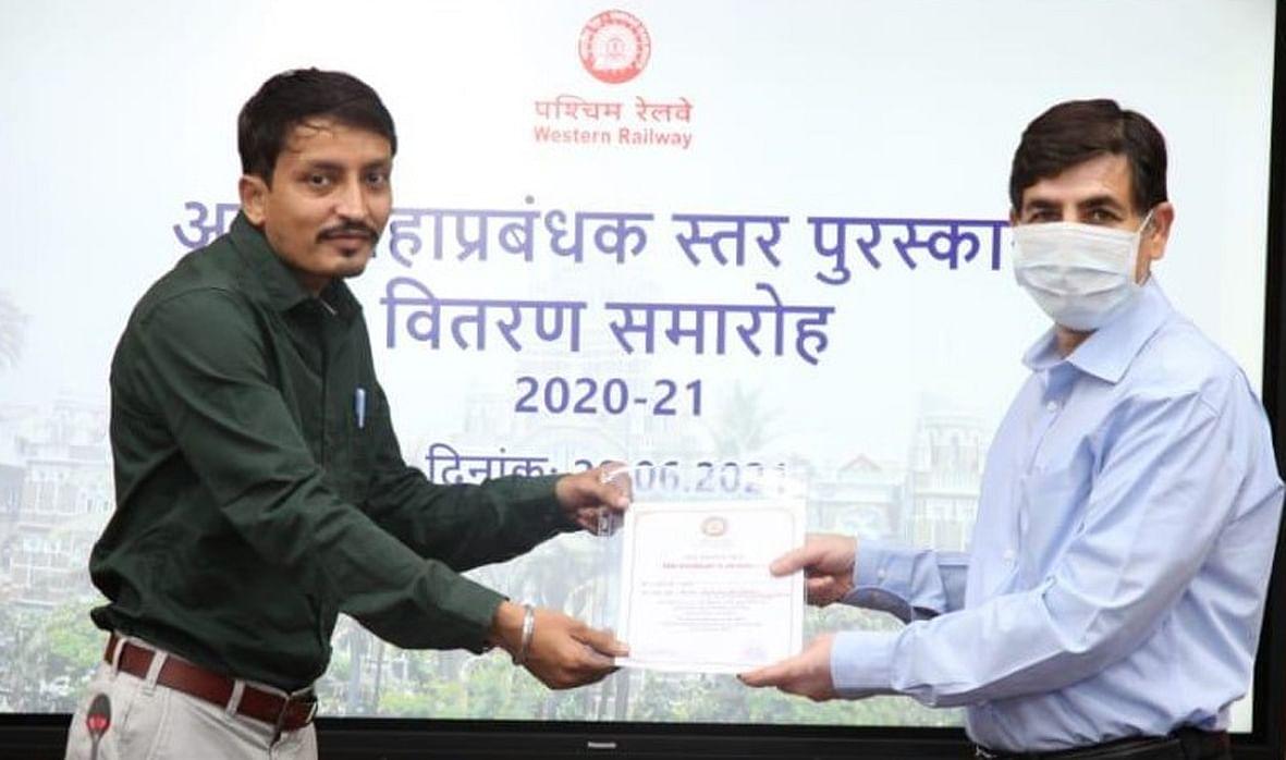 उत्कृष्ट कार्य करने वाले पश्चिम रेलवे के अधिकारी-कर्मचारी सम्मानित