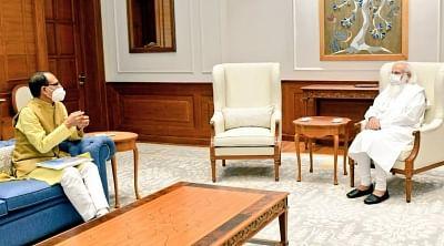 शिवराज ने मोदी से की मुलाकात, कोविड प्रबंधन पर की चर्चा (लीड-1)