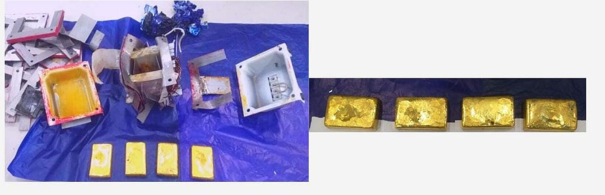 लखनऊ अमौसी एयरपोर्ट पर कस्टम ने एक करोड़ 17 लाख का सोना पकड़ा