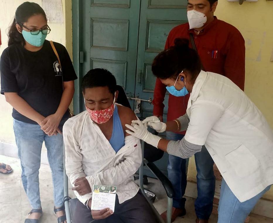 बाल सुधार गृह में कोविड-19 प्रतिरोधी टीका लगाया गया