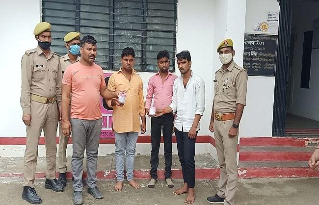 शाहजहांपुर : कार से एक करोड़ की स्मैक बरामद, चार तस्कर गिरफ्तार