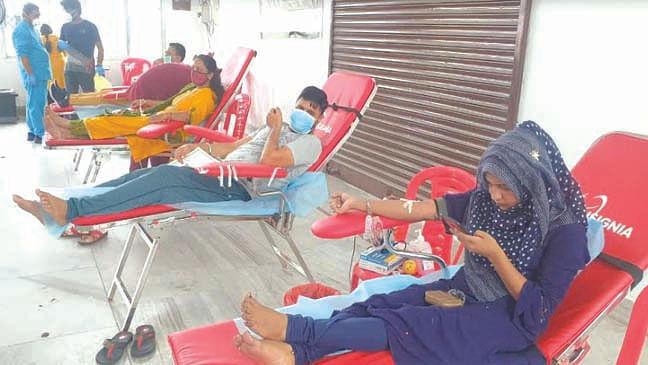 शिविर में 150 ने किया रक्तदान