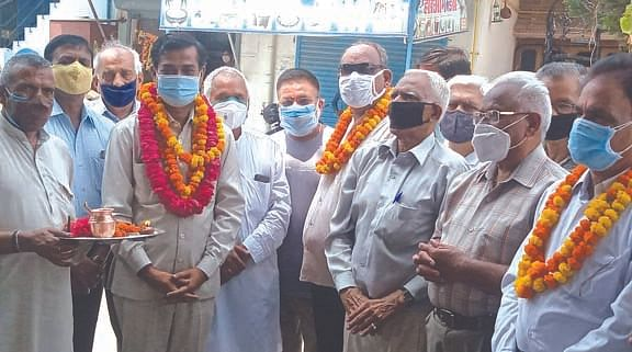 Adesh Chauhan started the reconstruction work