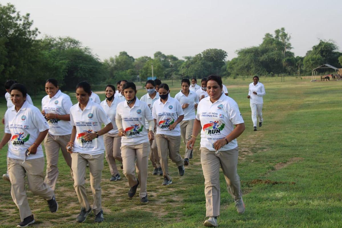 रैपिड एक्शन फोर्स ने फिट इंडिया अभियान के तहत किया फ्रीडम रन का आयोजन