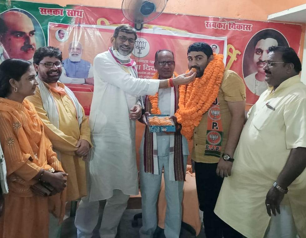 मण्डौर के डीडीसी विनीत द्विवेदी भाजपा ने शामिल, जिला पंचायत अध्यक्ष पद पर भाजपा मजबूत