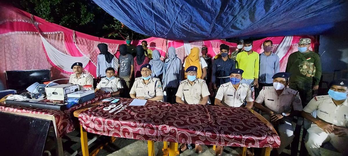 चोर गिरोह के नौ सदस्य गिरफ्तार, सामान बरामद