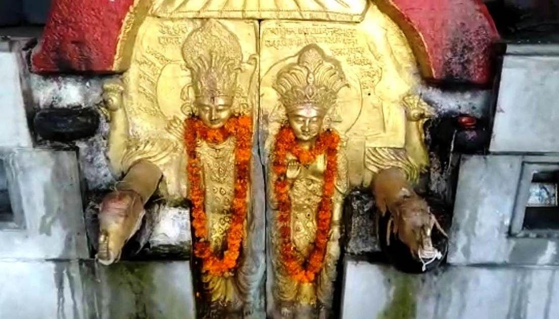 नृसिंह मंदिर की पौराणिक दंड धारा सूख गई