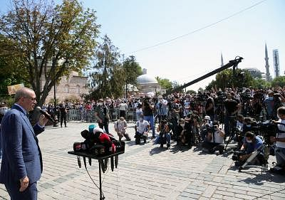 एर्दोगन ने कैनल इस्तांबुल की आधारशिला रखी