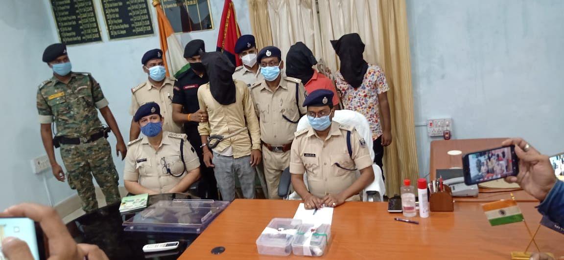 बेतिया मे तीन पिस्तौल समेत चार युवक गिरफ्तार