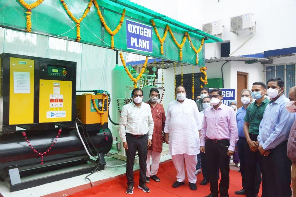 मंडल रेल चिकित्सालय में विधायक काश्यप ने किया ऑक्सीजन प्लांट का उद्घाटन