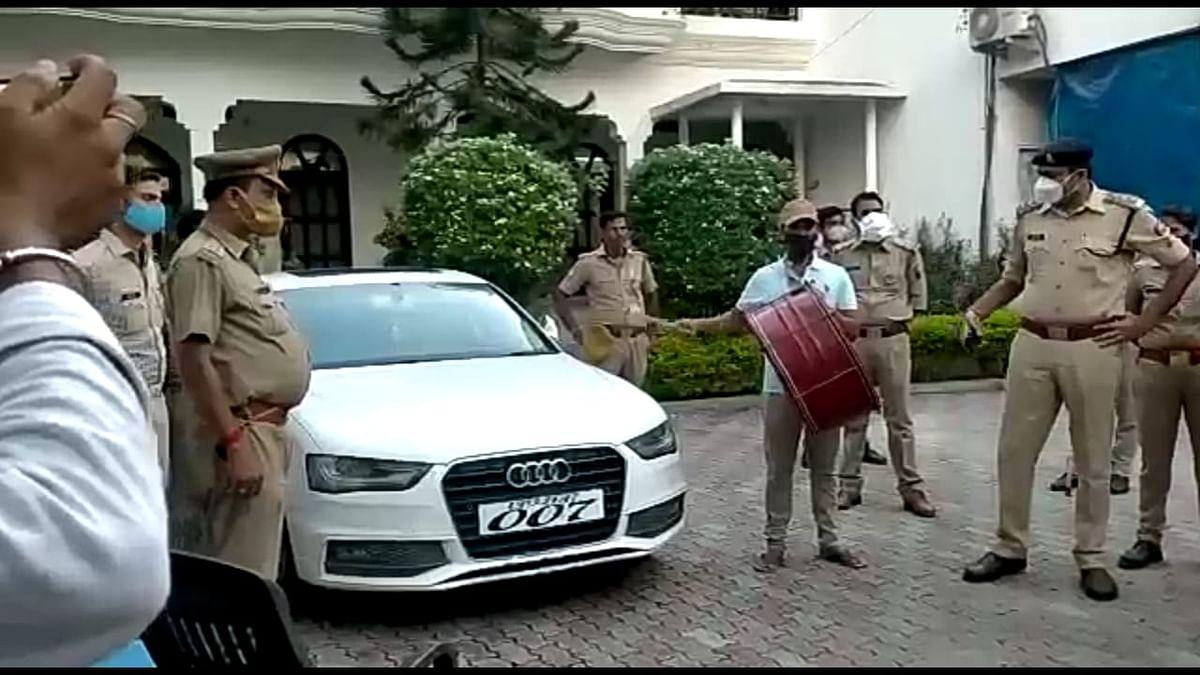 बाहुबली विधायक मुख्तार अंसारी की ऑडी कार कुर्क