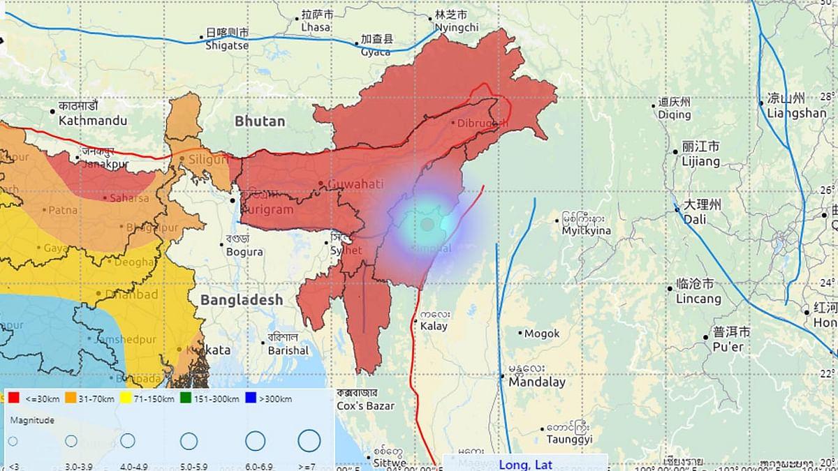 अरुणाचल में 3.1 व मणिपुर में 3.6 तीव्रता का भूकंप