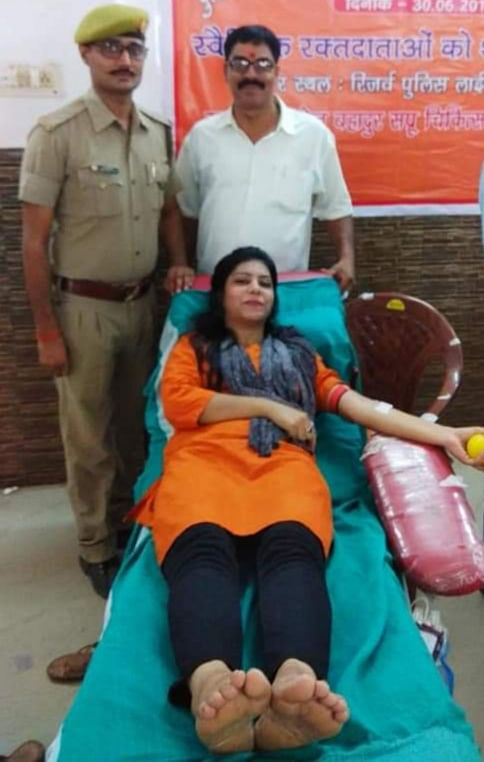 police-friends-will-donate-blood-for-the-first-time-in-lucknow