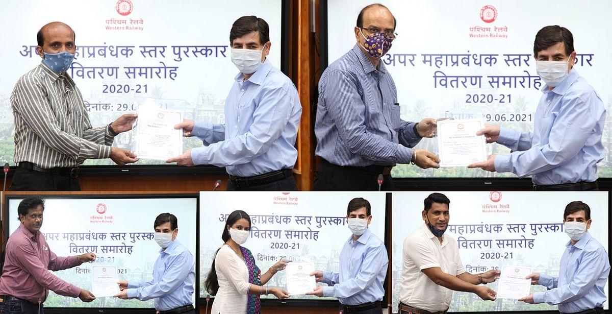 पश्चिम रेलवे के अधिकारियों और कर्मचारियों को योग्यता प्रमाण पत्र