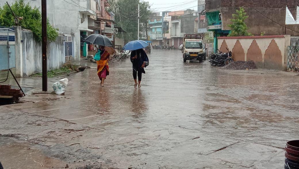 धमतरी:आधे घंटे अच्छी बारिश, खरीफ खेती-किसानी में आएगी तेजी