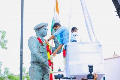 गलवान संघर्ष में शहीद हुए कर्नल की प्रतिमा का तेलंगाना में हुआ अनावरण