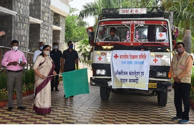 राज्यपाल ने पर्वतीय जिलों के लिए स्वास्थ्य उपकरण भिजवाए