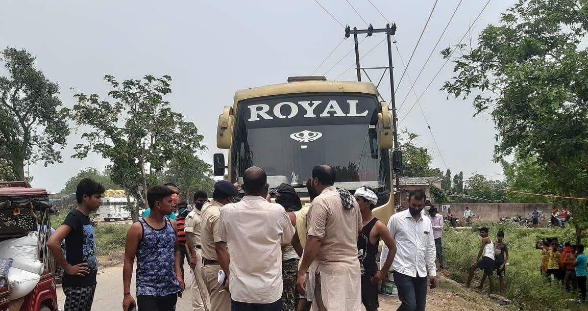 सहरसा-दिल्ली यात्री बस में करंट से एक की मौत,आधा दर्जन जख्मी
