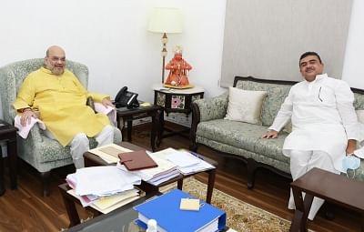 अमित शाह से मिलने दिल्ली पहुंचे सुवेंदु अधिकारी