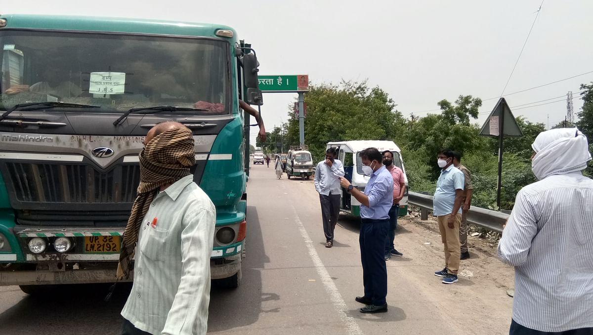 हमीरपुर में खनिजों के अवैध परिवहन और ओवर लोडिंग पर 75 ट्रक सीज