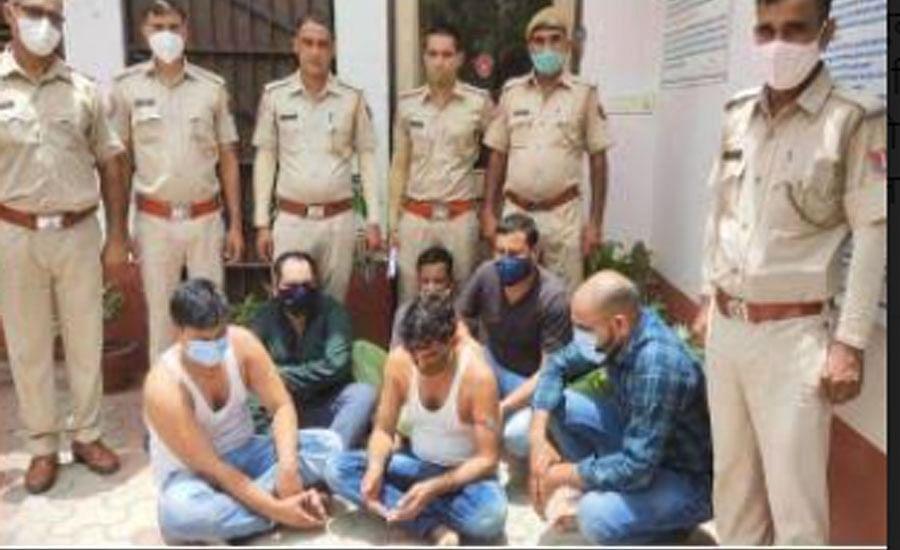 शराब में मिलावट करने वाले गिरोह का भंडाफोडः छह बदमाश गिरफ्तार