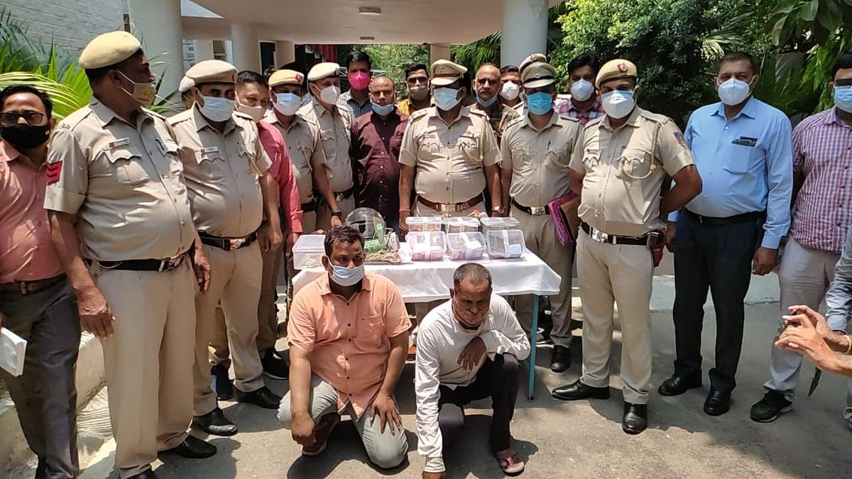 यूनियन बैंक ऑफ इंडिया में दीवार तोड़कर 55 लाख चोरी के मामले में दो आरोपित गिरफ्तार