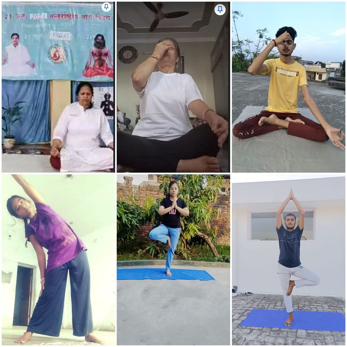 7वां अंतर्राष्ट्रीय योग दिवस के उपलक्ष पर एनएसएस स्वयंसेवकों ने योग अभयास किया