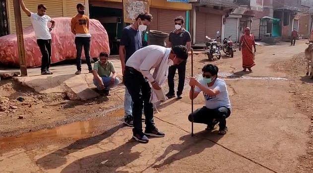 श्रीराम कॉलोनी में डीपी चौराहे पर बनेगा नया रैंप और नालियां