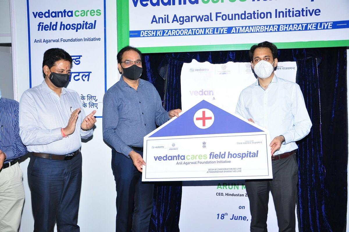 राजसमंद में वेदांता हिन्दुस्तान जिंक ने बनाया 100 बेड का कोविड फील्ड हाॅस्पिटल