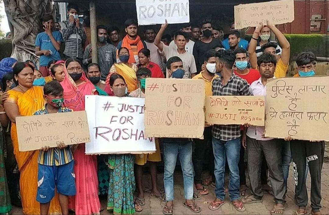 हत्या मामले में आरोपितों की गिरफ्तारी न होने से ग्रामीण नाराज, थाने का किया घेराव