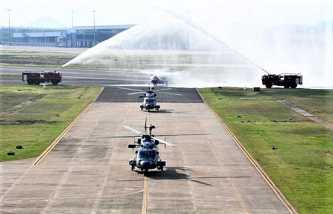 नौसेना ने 03 एएलएच एमके-III हवाई बेड़े में शामिल किये, बढ़ी समुद्री ताकत