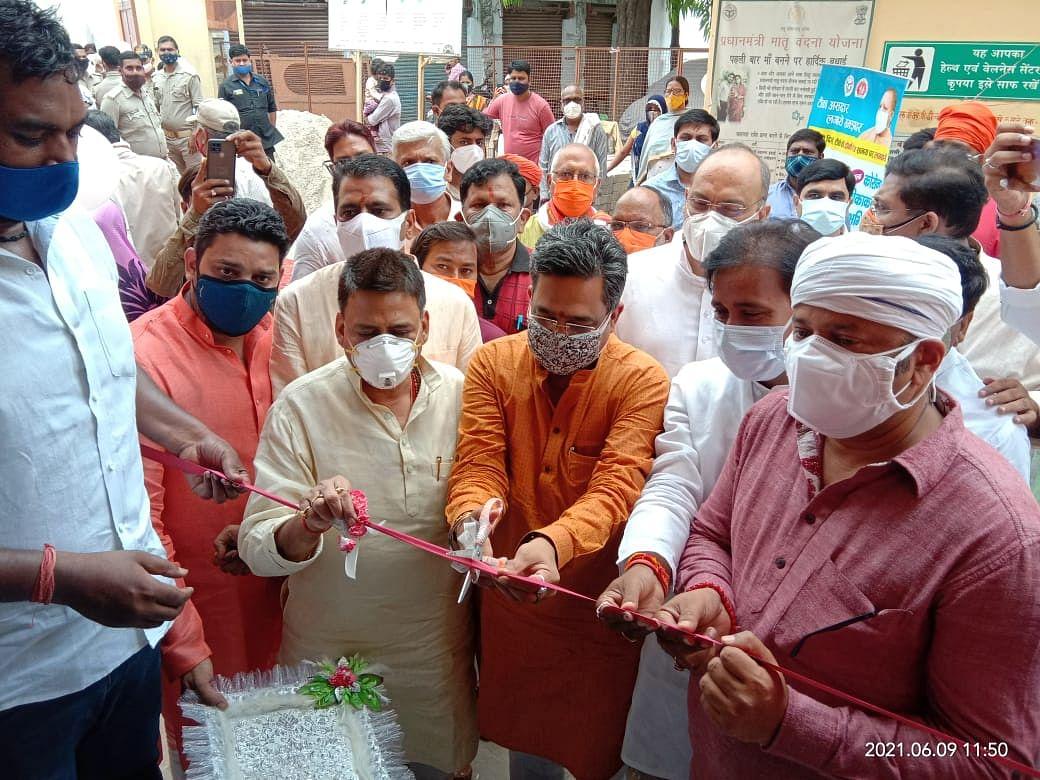 भाजपा प्रदेश संगठन महामंत्री ने विशेष टीकाकरण सेवा बूथ का किया उद्घाटन