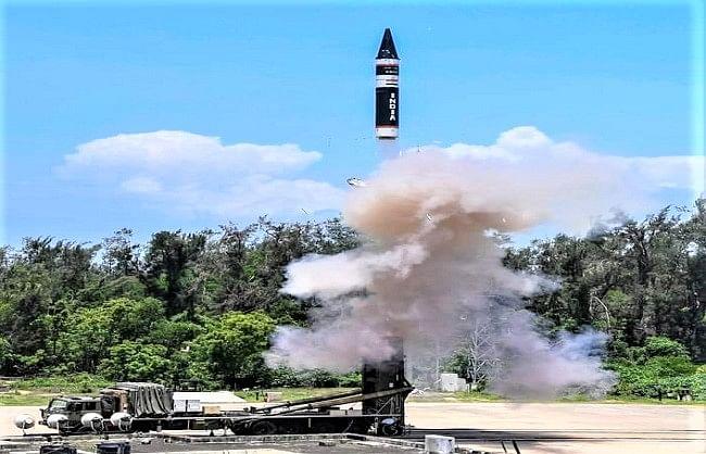 भारत ने किया सबसे नई पीढ़ी की 'अग्नि प्राइम' मिसाइल का परीक्षण