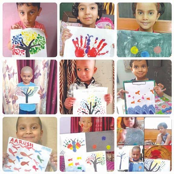 डीपीएस के बच्चों ने बनाए सुंदर चित्र