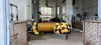 एनडीआरएफ ने सीआईएसएफ के साथ कोडरमा में किया रासायनिक आपदा पर मॉक ड्रिल