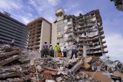 फ्लोरिडा में इमारत ढहने वाली जगहों पर तलाशी अभियान खत्म