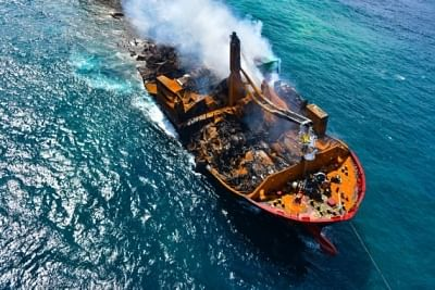 श्रीलंका में मालवाहक जहाज में आग लगने से 176 कछुए, 20 डॉल्फिन की मौत